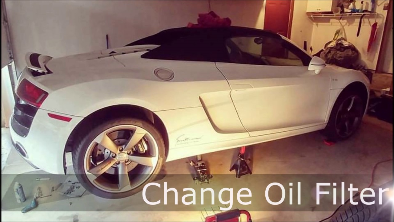 Audi R8 V10 Spyder Oil Change Diy Youtube A8 V1 0 Engine Diagram
