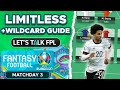 LIMITLESS & WILDCARD MATCHDAY 3 STRATEGY GUIDE | Euro 2020 fantasy Tips