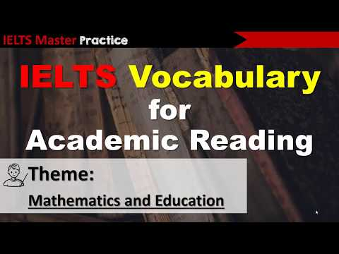 IELTS Vocabulary for Academic Reading - Mathematics and Education