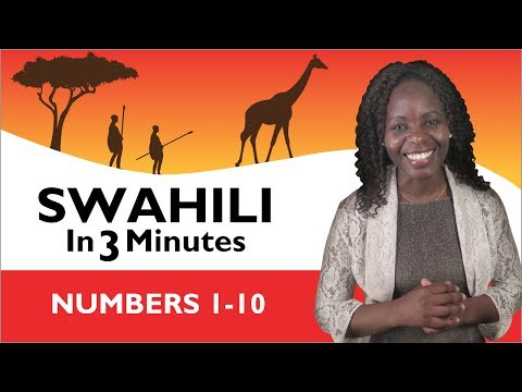 Learn Swahili - Swahili in Three Minutes - Numbers 1-10