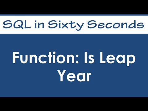 SQL SERVER - Function: Is Function  - SQL in Sixty Seconds #004 - Video hqdefault
