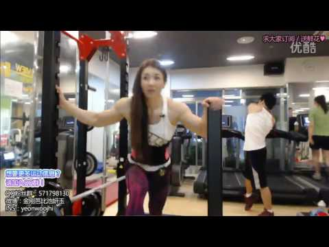 Yeon Woo Jhi Biceps and Triceps workout.