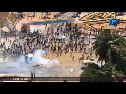 Mort de l'étudiant Mouhamed Fallou Séne   un véhicule de la police incendié à l'ucad