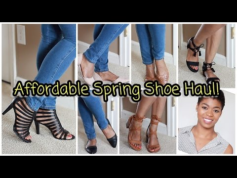 Affordable Spring/Summer Shoe Haul Try On!  - DSW, Target, Kohl's, & Ross