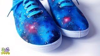 Галактические КЕДЫ ✦ Декор акриловыми красками ! ( Светлана Няшина)(DIY