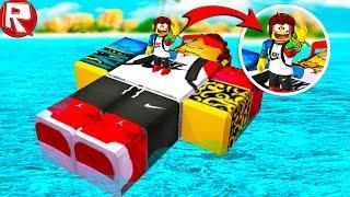 РОБЛОКС ПЛЫВЕМ НА ГИГАНТСКОМ СКОРТИ ЗА СОКРОВИЩАМИ В ROBLOX видео игра как мультик для детей
