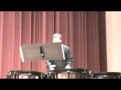 My senior recital performance of the first movement, Delcaration.