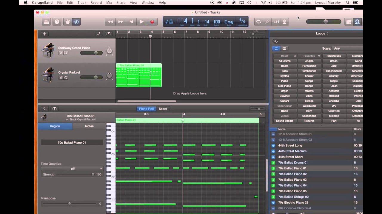 GarageBand Tutorial 1  Getting Started in GarageBand on