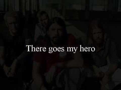 Foo Fighters- My Hero With Lyrics