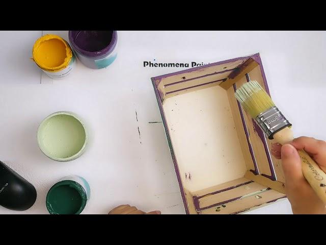 Layered distressing with Phenomena Paints chalk paint