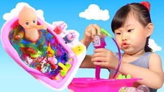 베이비돌 액괴 슬라임 액체괴물 목욕 뽀로로 장난감 놀이 LimeTube & Toy 라임튜브