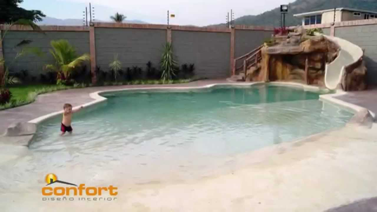 M2 piscinas de arena youtube for Arena para piscinas