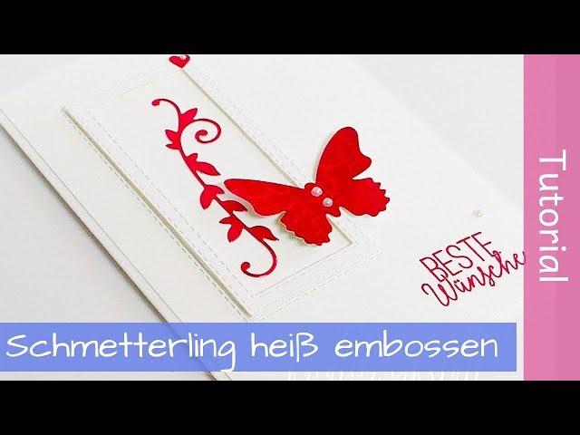 Roter Schmetterling - Bestickte Rechtecke - Stampin' Up! - Tutorial - SAB2019