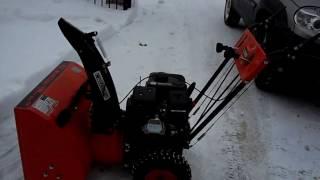 Снегоуборщик Crosser. Тест, после ледяного дождя
