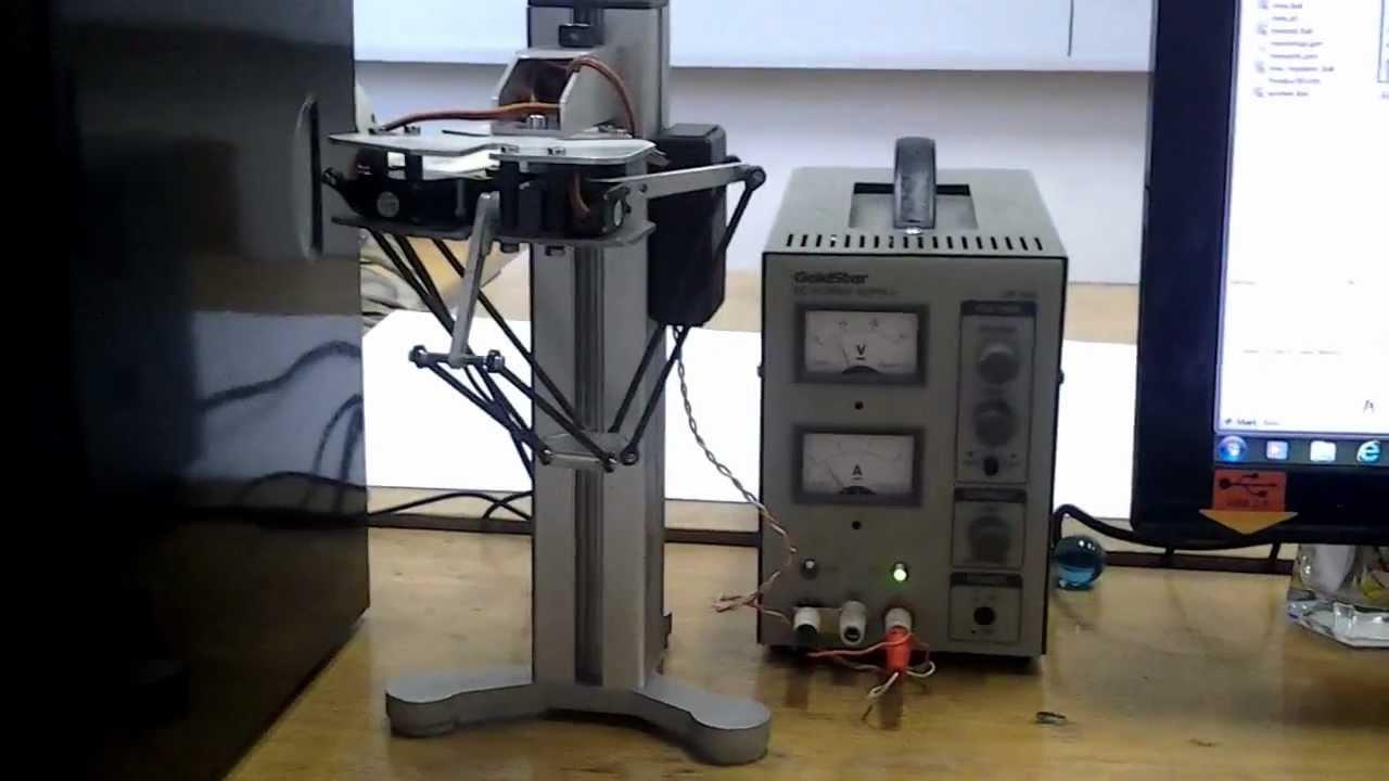 Mini delta robot controlled with arduino nano via