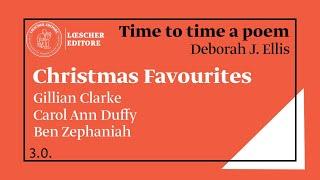 """Condividiamo la quarta videolezione in lingua inglese di deborah j. ellis, del ciclo """"from time to a poem"""", dedicato tre poesie natalizie rispettivamente gillian clarke, carol ann duffy, ben ..."""