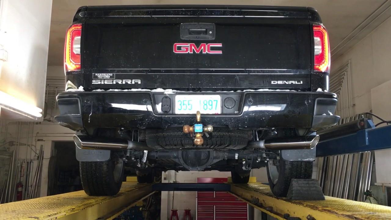 2016 gmc sierra denali exhaust sound