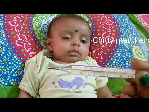 How to check Baby temperature using thermometer / Newborn baby fever after vaccination from YouTube · Duration:  2 minutes 30 seconds