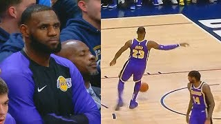 LeBron James Gets TIRED Of Lakers Being TERRIBLE! Lakers vs Nuggets