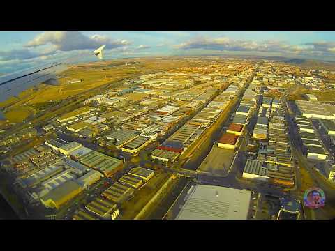 Flight Paris-Madrid with Titan Airways in timelapse from the porthole of the plane