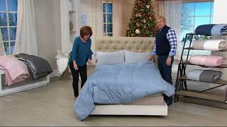 Northern Nights 400TC 600 Fill Power Reversible Down Comforter on QVC