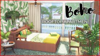 Бохо Стиль😍Двухуровневая Квартира На Крыше | Без СС | Симс 4 | Строительство