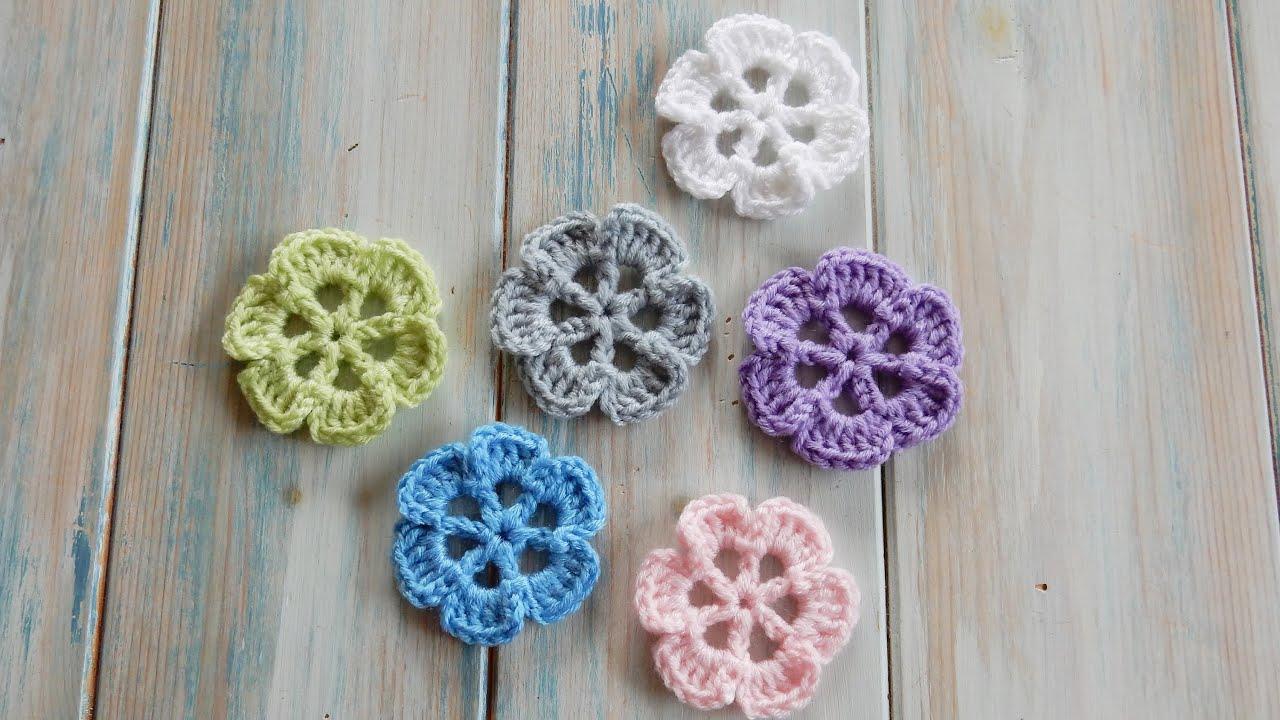 How to crochet wheel spoke flower youtube izmirmasajfo