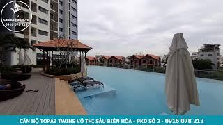 Toàn cảnh hồ bơi căn hộ Topaz Twins Biên Hòa sau khi đi vào hoạt động