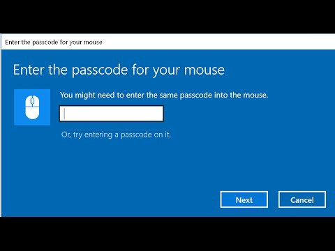 Bluetooth mouse passcode passkey - fix