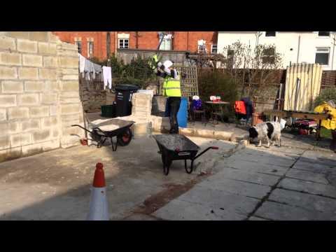 watchet,-somerset,-england.-garage-demolition-6-part-video-from-start-to-finish.