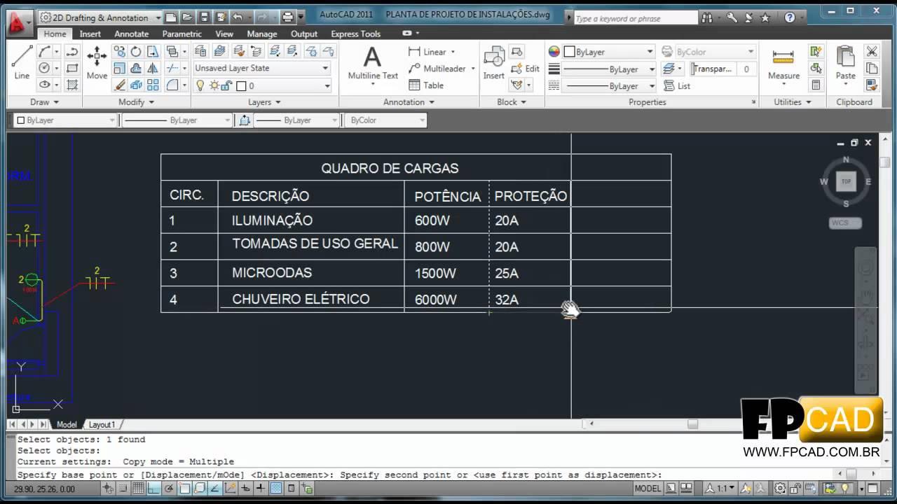 Aula De Autocad Projeto El 233 Trico Part 03 De 03 Youtube