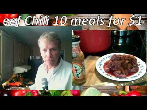 Spicy Organic Beef Chili - 10 meals for $10