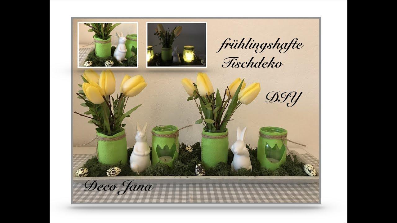 Diy Fruhlingshafte Tulpen Tischdeko Mit Filz Verkleidet Deco Jana