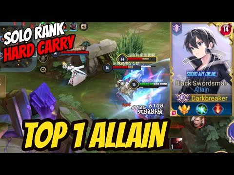 TOP 1 ALLAIN KIRITO JUNGLE - SERVER BEST ALLAIN | AoV | 傳說對決 | RoV | Liên Quân Mobile