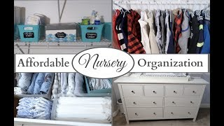 NURSERY ORGANIZATION || NURSERY STORAGE || ORGANIZATION TIPS || IKEA ORGANIZATION || MELISSA MARIE