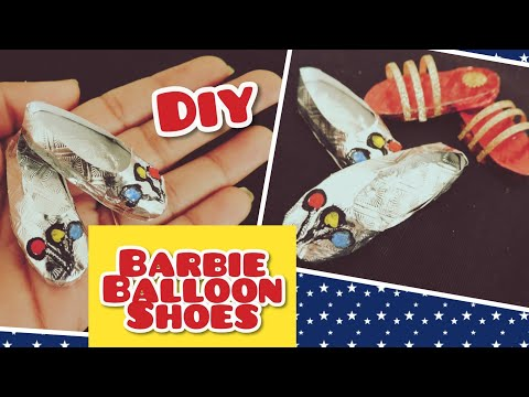 DIY ! Cute Barbie Balloon Shoes With Paper | Barbie Sandal boots | how To make Barbie Balloon Shoes