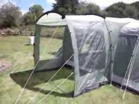 Outwell Montana 6 with Oakland XL side extension & Outwell Montana 6 with Oakland XL side extension - YouTube