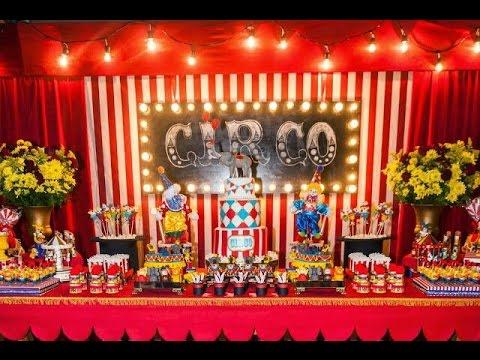 Fiesta de circo party circus fiestas infantiles 2017 mesa - Mesa dulce infantil ...