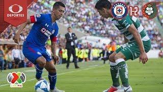 Resumen Cruz Azul 1 - 2 Santos | Clausura 2019 - J7 | Televisa Deportes