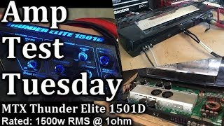 Amp Test Tuesday - MTX Thunder Elite 1501D - Rated 1500 watts + GUT SHOT