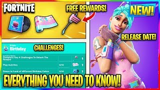 FORTNITE: *NEW* BIRTHDAY EVENT INFO! (Free Rewards, Challenges, Release Date) | Fortnite News