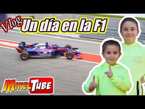 Mikel y Leo pasan un día en los Test de la F1