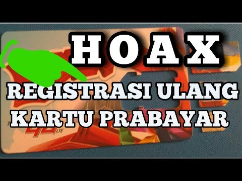 Fakta vs Hoax registrasi ulang kartu prabayar