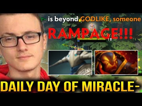 Miracle- and His Daily Life of Dota RAMPAGE [2 Games]