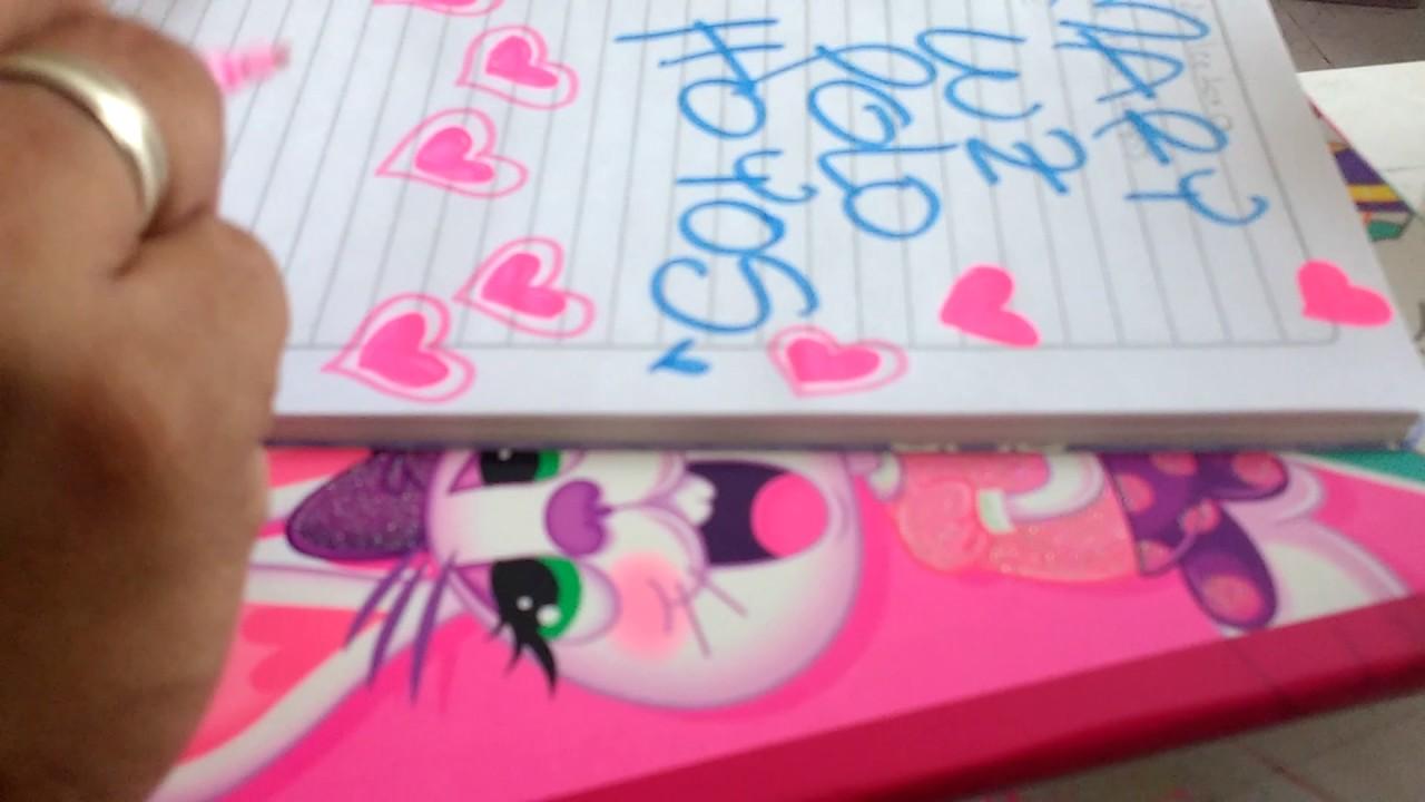 Marcar cuaderno comprensión lectora lluvia de corazones