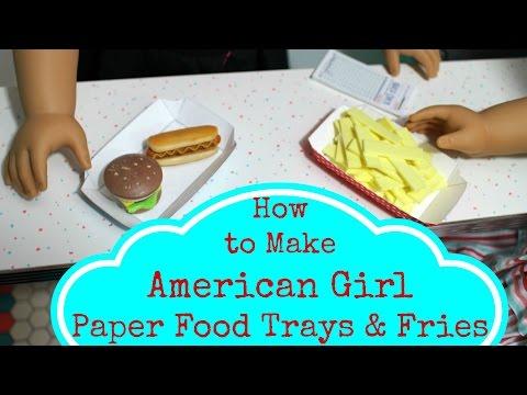 DIY American Girl Doll Food Trays