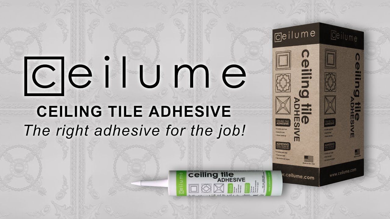 Ceilume Ceiling Tile Adhesive Youtube