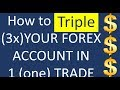 Triple (200%) your Forex trading broker account in only 1 trade. See the topping up magic in action
