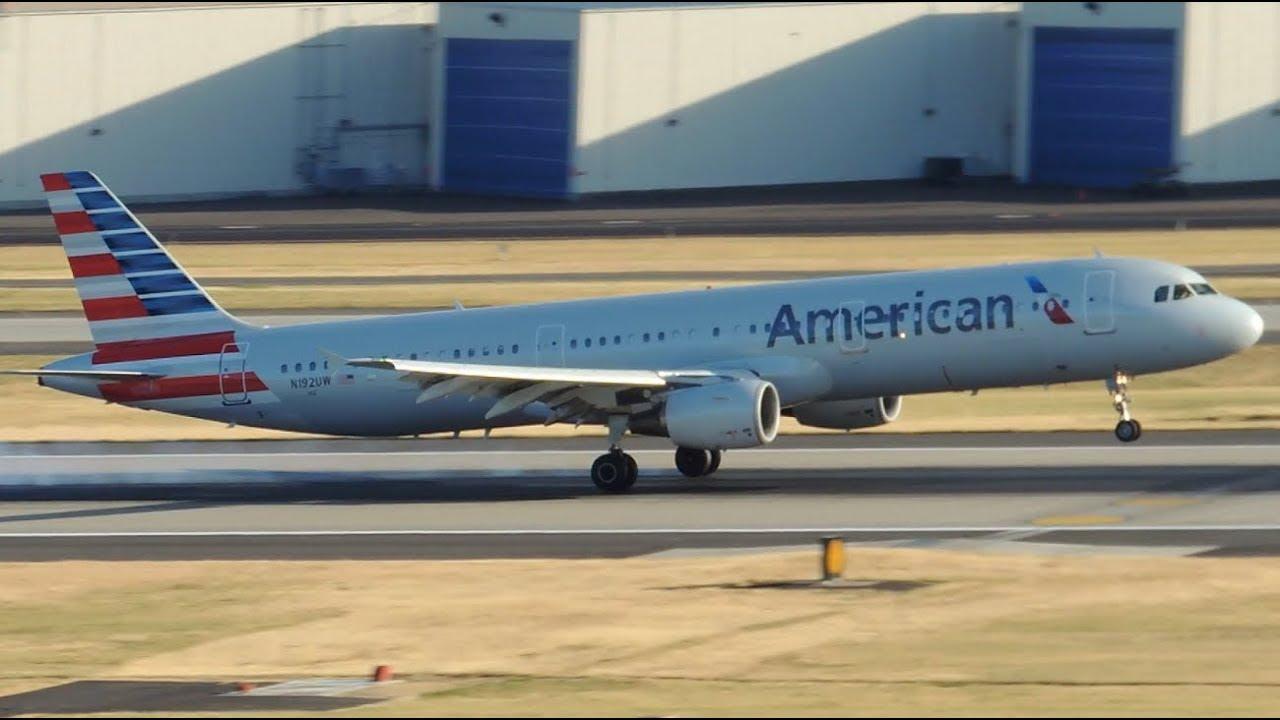 American Airlines Airbus A321 211 N192uw Landing In Pdx