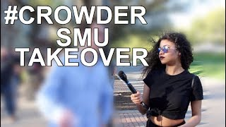 INTERVIEWING ONE PROTESTER AT SMU | #CrowderSMUTakeover